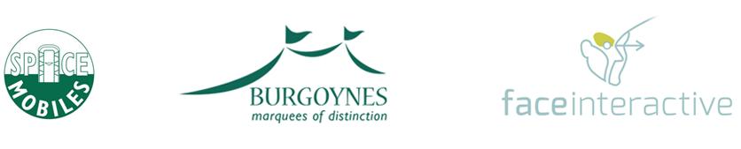 Festival sponsors: Space Mobiles, Burgoynes, Face Interactive