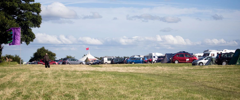 Festival camp site