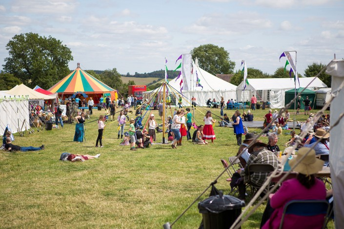 The festival site with May Pole