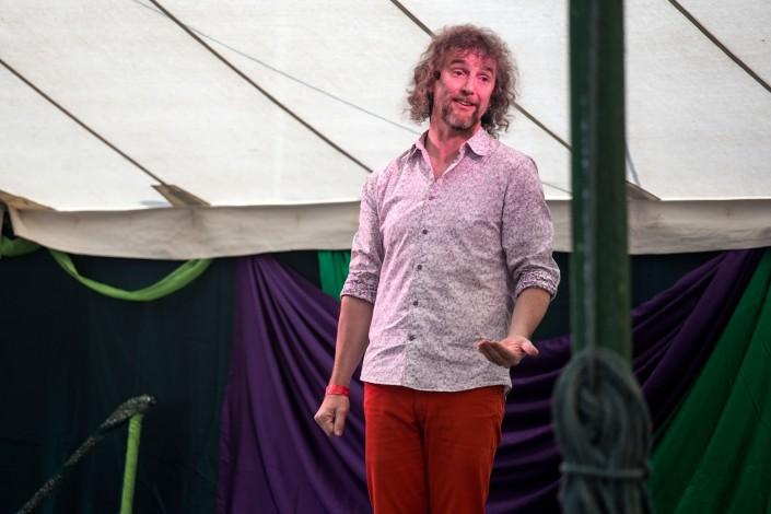 A storyteller entertains